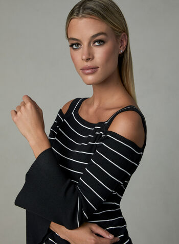 Elena Wang - Cold Shoulder Sweater, Black, hi-res