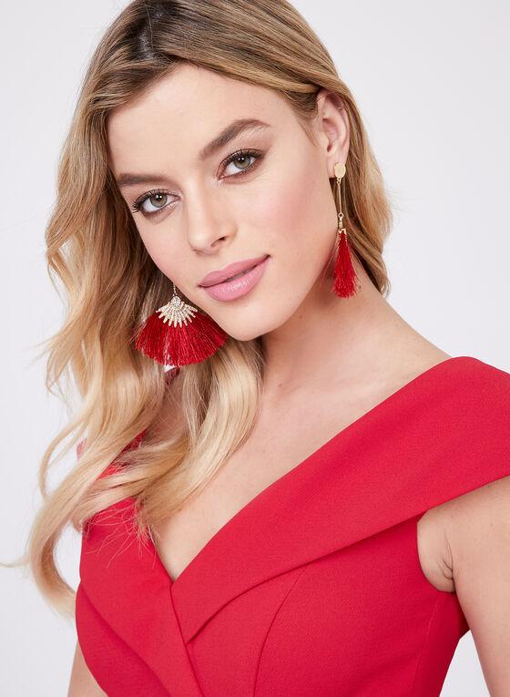 BA Nites - Portrait Collar Dress, Red, hi-res