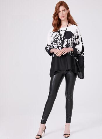 Frank Lyman - Chiffon Kimono Blouse , Black, hi-res