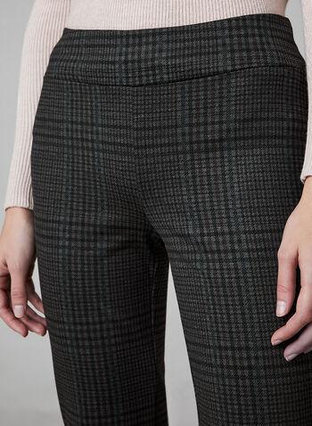 Pantalon motif Prince de Galles à jambe étroite, Noir,  pantalon, pull-on, jambe étroite, prince de galles, point de rome, automne hiver 2019