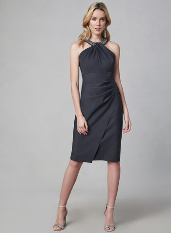 Alex Evenings - Embellished Cleo Neck Dress, Grey, hi-res