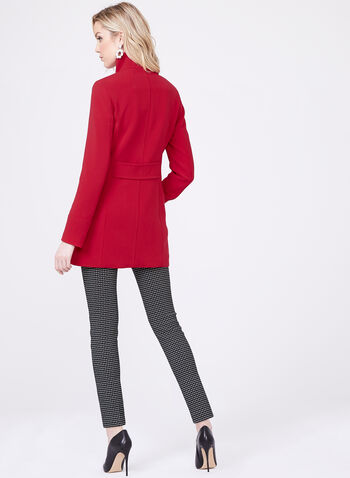Nuage - Stand Collar Coat, Red, hi-res