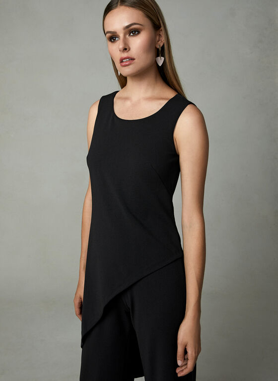 Adrianna Papell - Sleeveless Crepe Jumpsuit, Black, hi-res