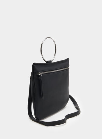 Crossbody Handbag, Black, hi-res