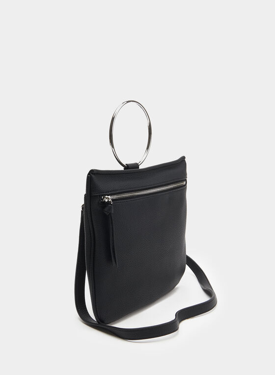 Crossbody Handbag, Black, hi-res