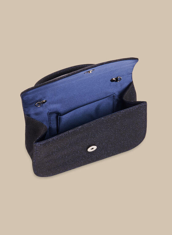 Glitter Handheld Bag, Blue