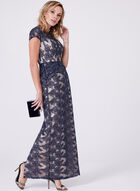 Decode 1.8 - Off The Shoulder Glitter Lace Dress, Blue, hi-res