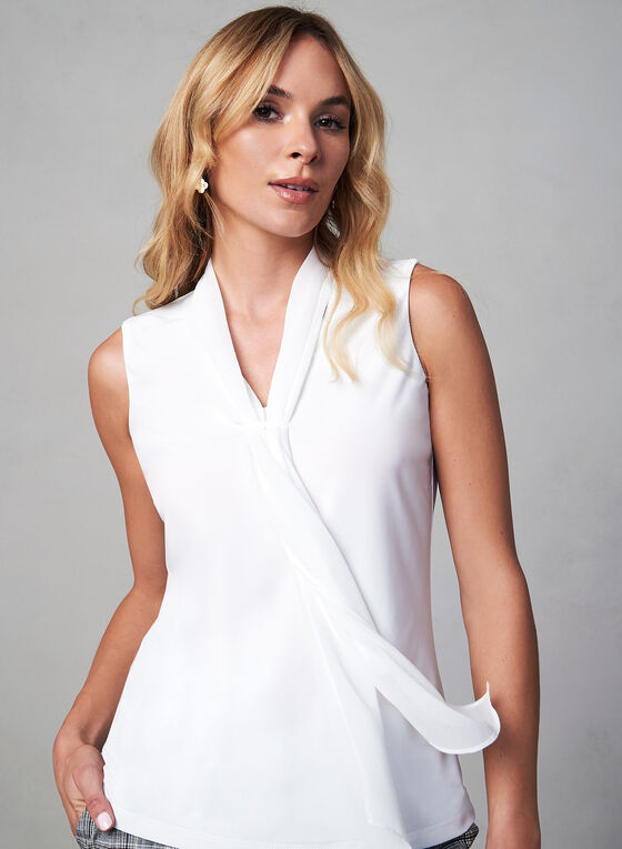 Foulard Collar Chiffon Blouse, Off White