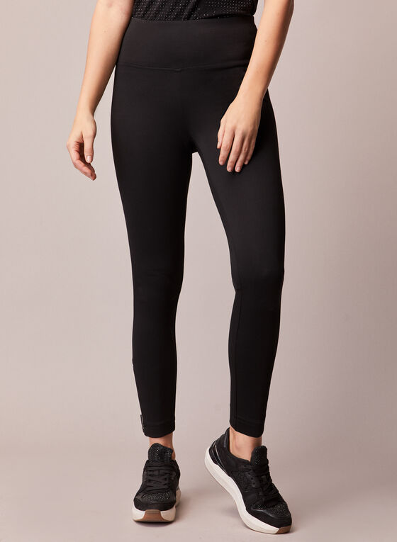 Legging à détails zippés, Noir