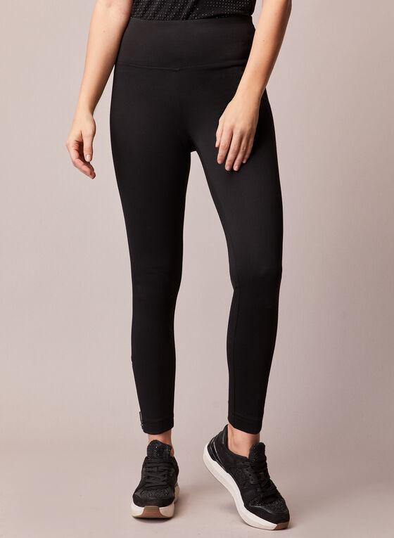 Zipper Detail Leggings, Black