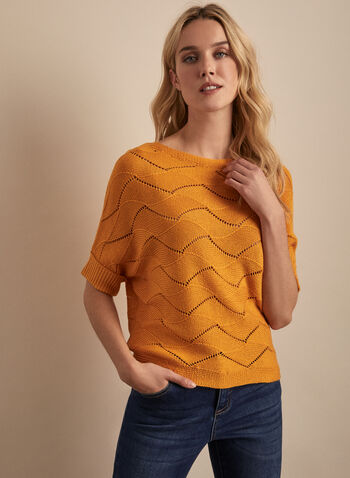 Knit Dolman Sleeve Sweater, Yellow,  spring summer 2019, dolman sleeves, boat neck, knit, crochet knit, high-low hem