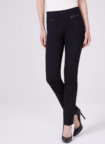 Pantalon pull-on Madison à jambe étroite, Noir, hi-res,