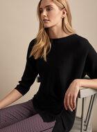 Vince Camuto - Twist Detail Rib Knit Sweater, Black