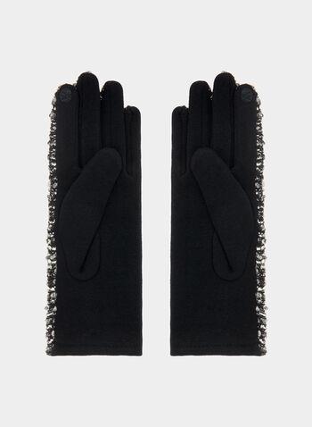 Gants en laine bouclée, Noir, hi-res