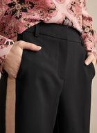 Pantalon coupe Giselle à bande satinée, Noir
