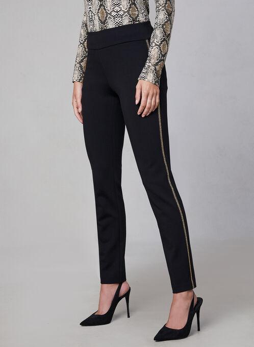 Pantalon Madison à bordures métalliques, Noir
