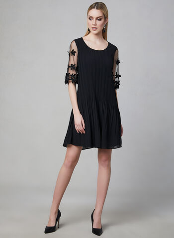 Frank Lyman - Mesh Sleeve Dress, Black, hi-res
