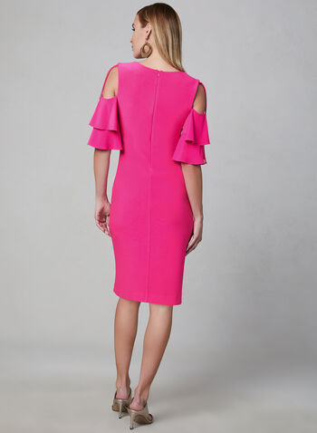 Joseph Ribkoff - Cold Shoulder Dress, Pink, hi-res
