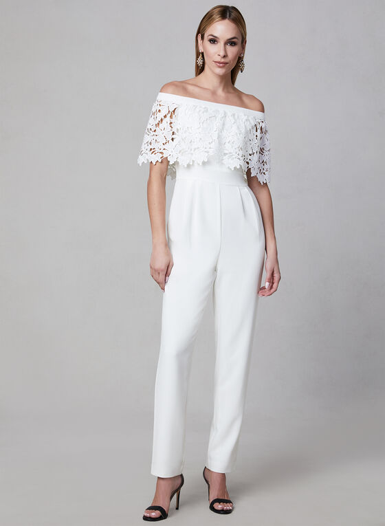 Eliza J - Popover Jumpsuit, Off White, hi-res