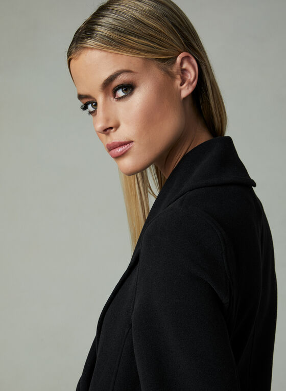 Faux Wool Coat, Black, hi-res