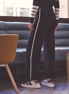 Alison Sheri - Pantalon jogger à bande contrastante, Noir