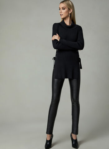 Cowl Knit Knit Sweater, Black, hi-res