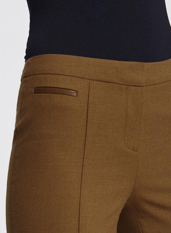 Pantalon longueur cheville à jambe étroite, Brun, hi-res