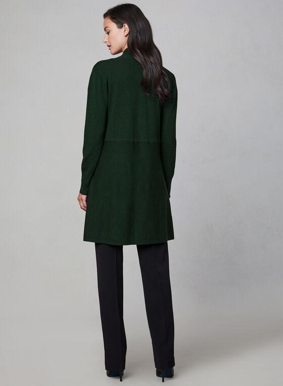 Shawl Collar Knit Cardigan, Green, hi-res