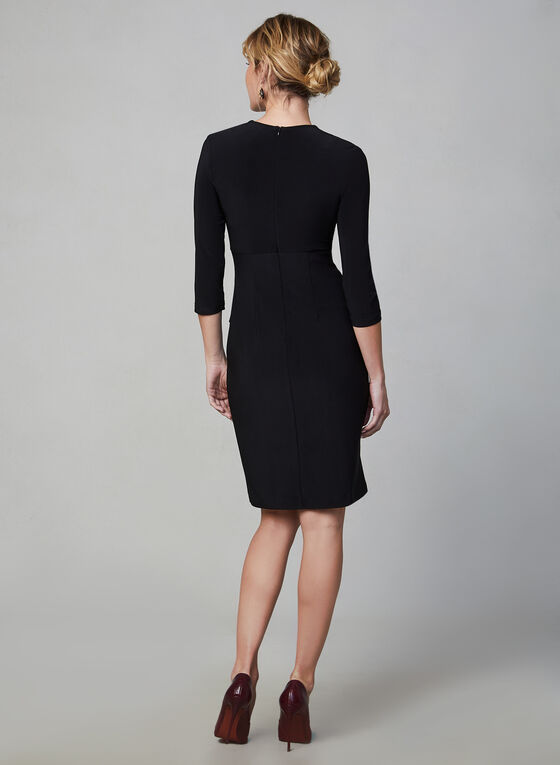 Joseph Ribkoff - Detailed Slim Dress, Black