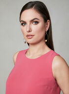 Sleeveless Crepe Blouse, Pink, hi-res