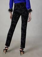 Madison Floral Paisley Pants, Black
