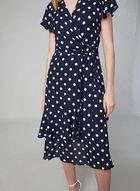 Joseph Ribkoff - Polka Dot Print Dress, Blue