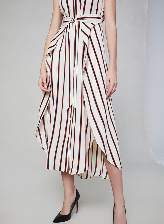 Vince Camuto - Stripe Print Sleeveless Dress, White