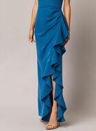 Robe bustier à volants, Bleu
