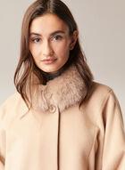 Mallia - Fur & Cashmere Blend Coat, Brown