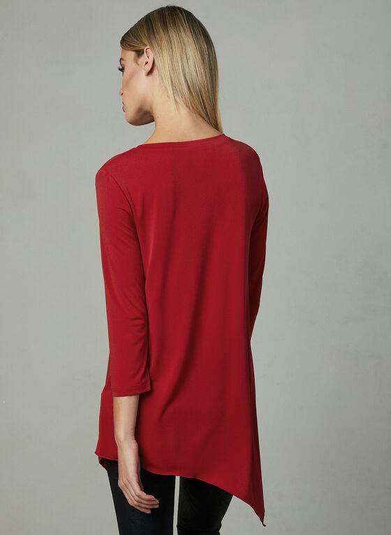 Compli K - Asymmetric Jersey Top, Red, hi-res