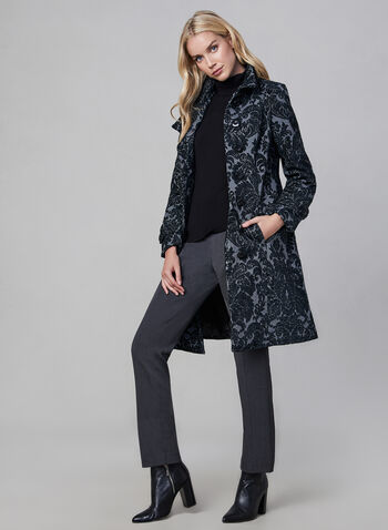 Long Tapestry Jacket, Grey,  fall winter 2019, long, mid-length, tapestry