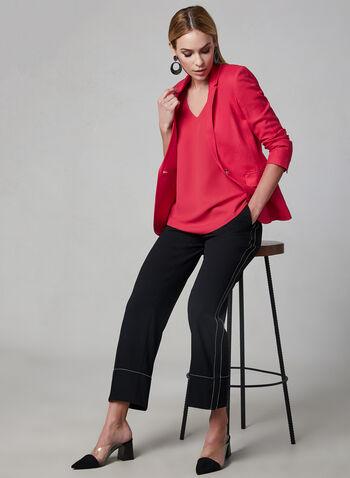 Sleeveless Button Detail Blouse, Pink, hi-res,  spring 2019