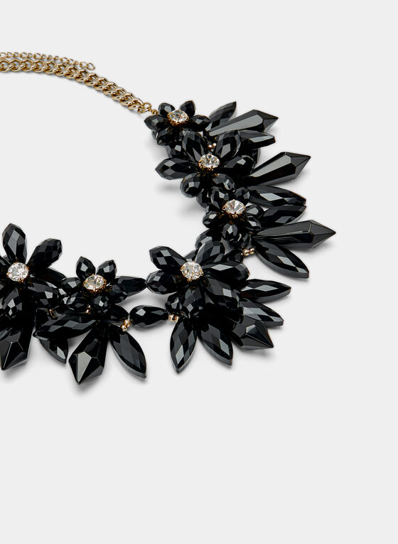 Flower Chain Necklace, Black