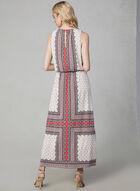 Maggy London - Scarf Print Maxi Dress, Orange, hi-res