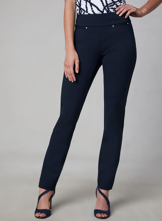 Pantalon Madison à taille pull-on, Bleu