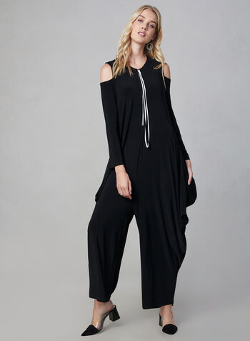 Joseph Ribkoff - Harem Jumpsuit, Black, hi-res,  fall winter 2019, jumpsuit, jersey, wide leg,