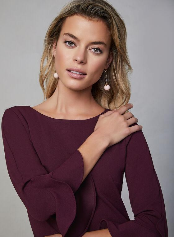 Karl Lagerfeld Paris - Tulip Sleeve Dress, Purple