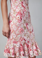 Kensie - Floral Lace Dress, Red, hi-res