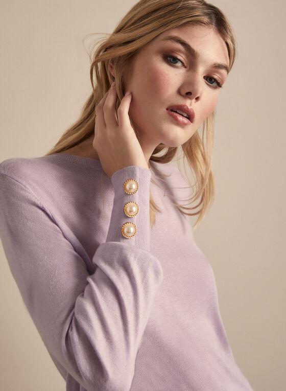 Balloon Sleeve Sweater, Purple