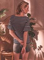 Stripe Print Tee, Black