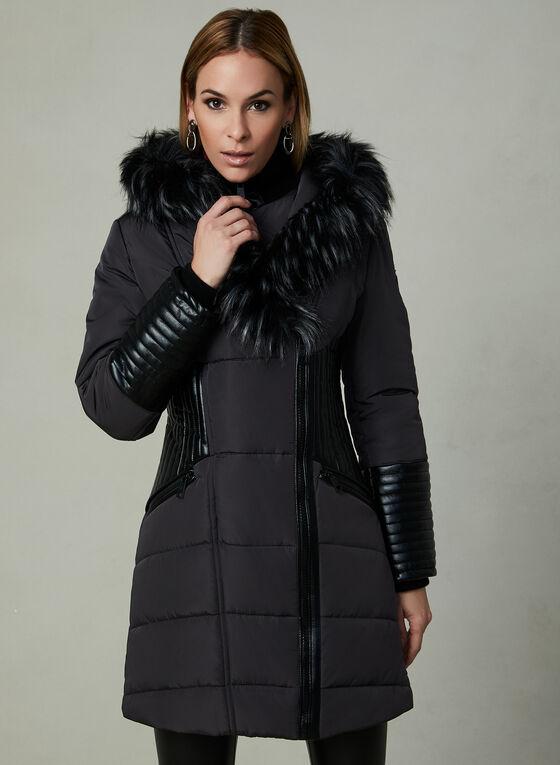 Northside - Faux Down Coat, Grey, hi-res