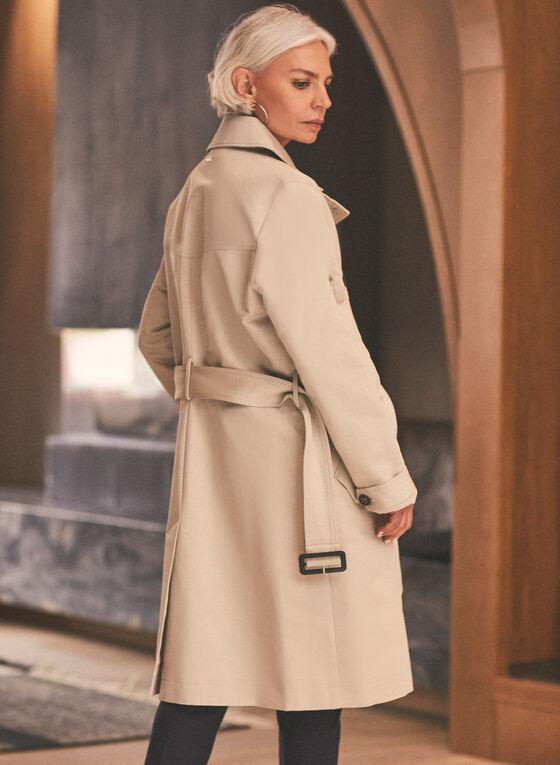 Novelti - Belted Front Zip Trench Coat, Grey