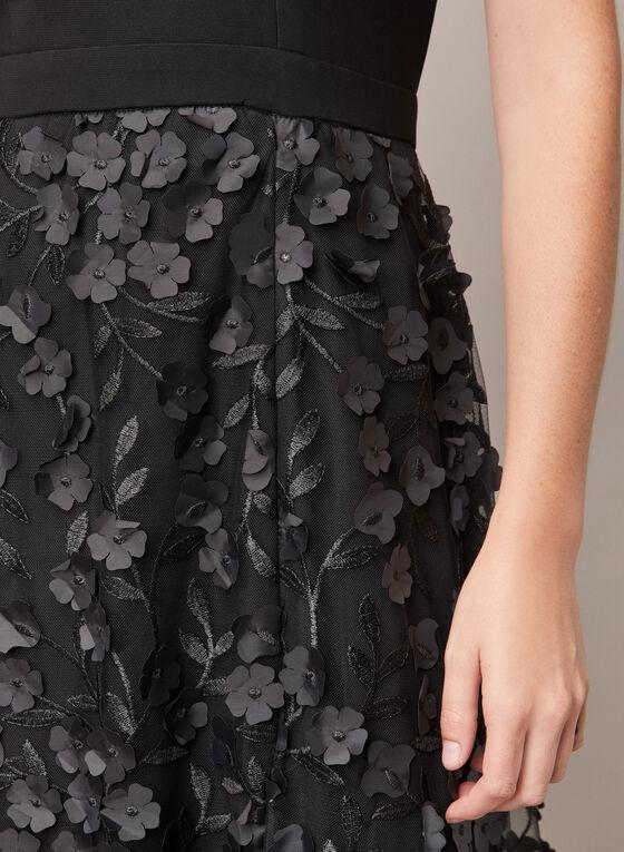 BA Nites - Robe sans manches et jupe à fleurs, Noir