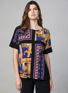 Joseph Ribkoff - Baroque Print Top, Blue, hi-res